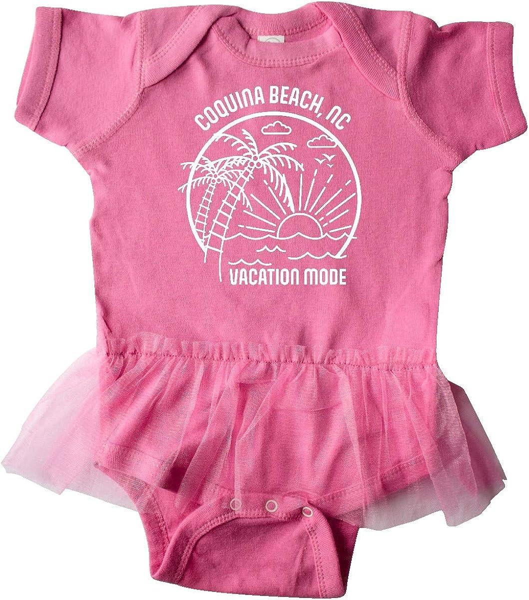 inktastic Summer Vacation Mode Coquina Beach North Carolina Infant Tutu Bodysuit