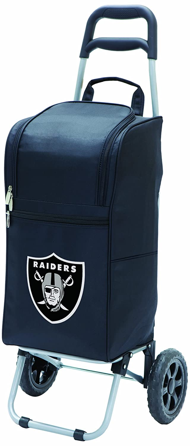 NFL Oakland Raiders Insulated Cart Cooler with Wheeled Trolley Black
