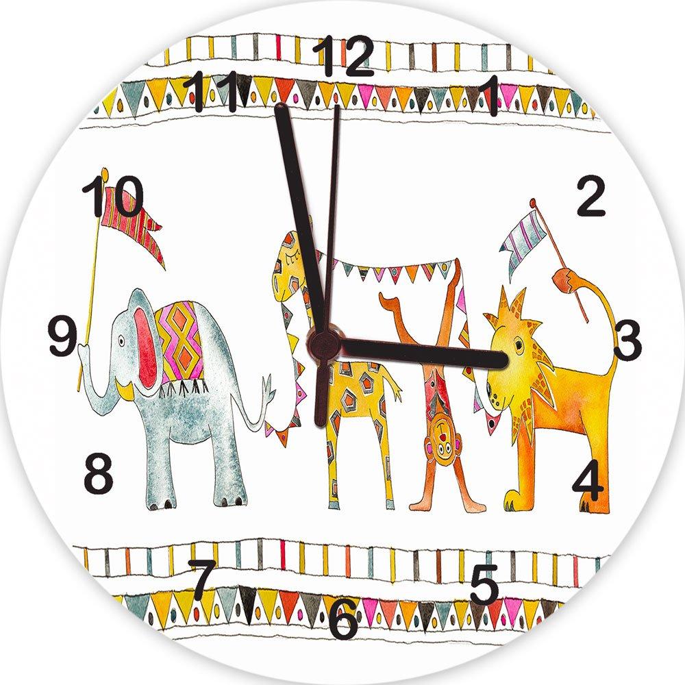 Toddler Gifts Jungle Parade Clock Nursery Clock,Childrens Clocks Baby Gifts Kids Clocks Childrens Gift