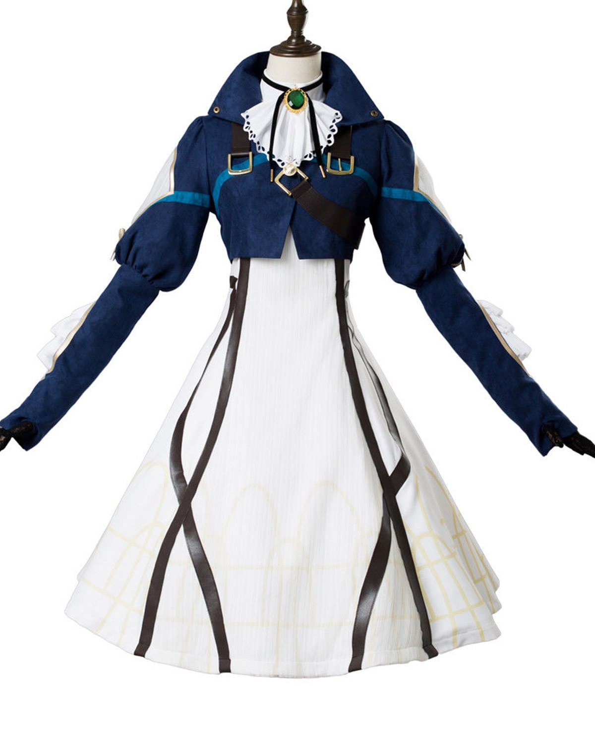 Costhat Violet Evergarden Auto Memory Doll Cosplay Costume Maiden Dress Suit Gown
