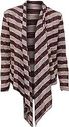 3f7c5f1ac8 1 Funwear Factory Striped Long Sleeve Flowing Shrug Sweater