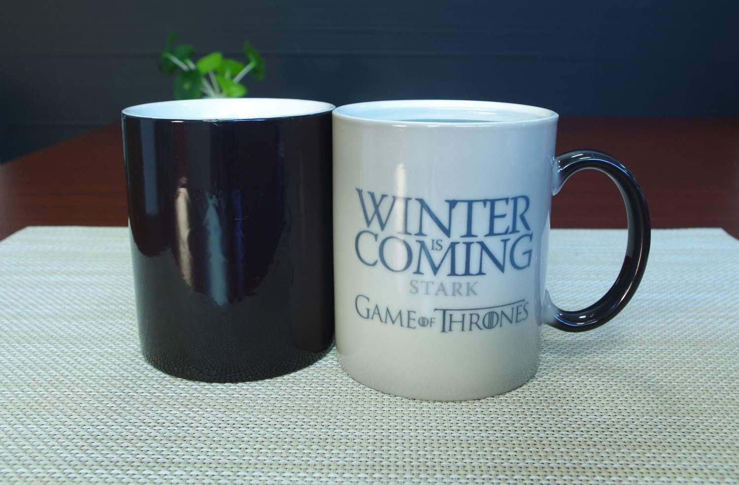 Game Of Thrones Mug - Color Changing 11oz Premium Mug Gift - Winter is Coming - Stark - by Fast and Produce