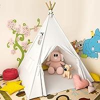 Lesicpic Kids Play Tent w/Mat & Egg Light String & Rabbit Doll Deals
