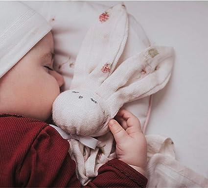 Peluche plano de bamb/ú Sevira Kids Conejo Coral