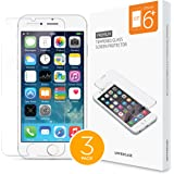 UPPERCASE DuraGlass Premium Tempered Glass Screen Protector 3 Pack (iPhone 6/6S Plus (3 Pack))