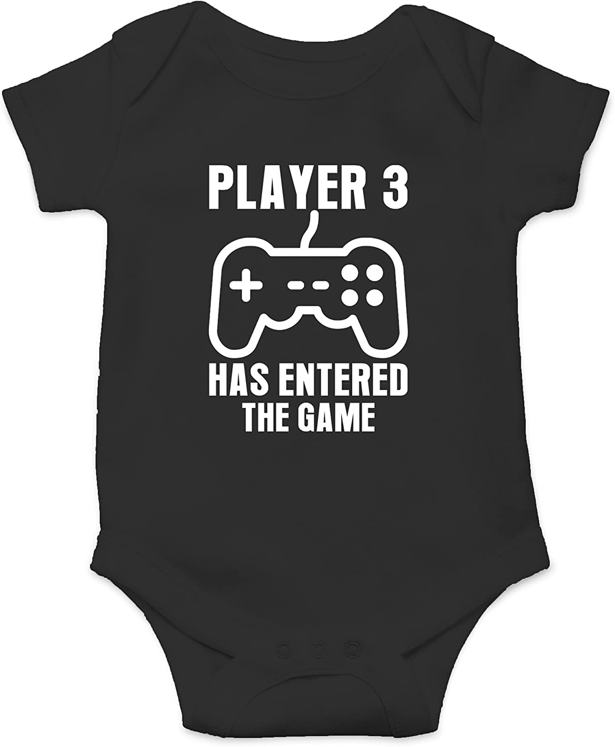 Gamer Baby Funny Cute Novelty Infant One-Piece Baby Bodysuit Crazy Bros Tees Player 3 Has Entered The Game