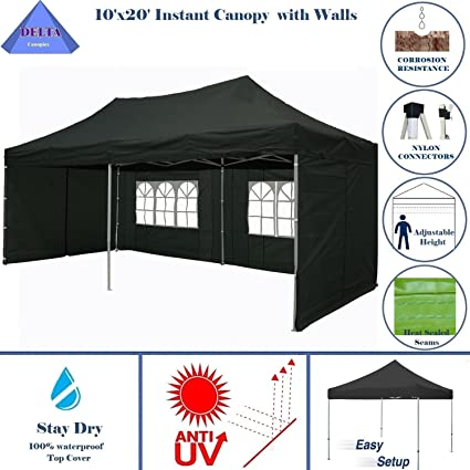 10u0027x20u0027 Ez Pop up Canopy Party Tent Instant Gazebos 100% Waterproof Top  sc 1 st  Amazon.com : tailgating tent with sides - memphite.com