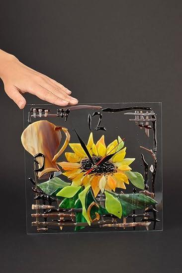 Charmant Amazon.de: Handgefertigt Designer Uhr Wand Kuchen Deko Wanduhr Aus Glas  Rechteckig