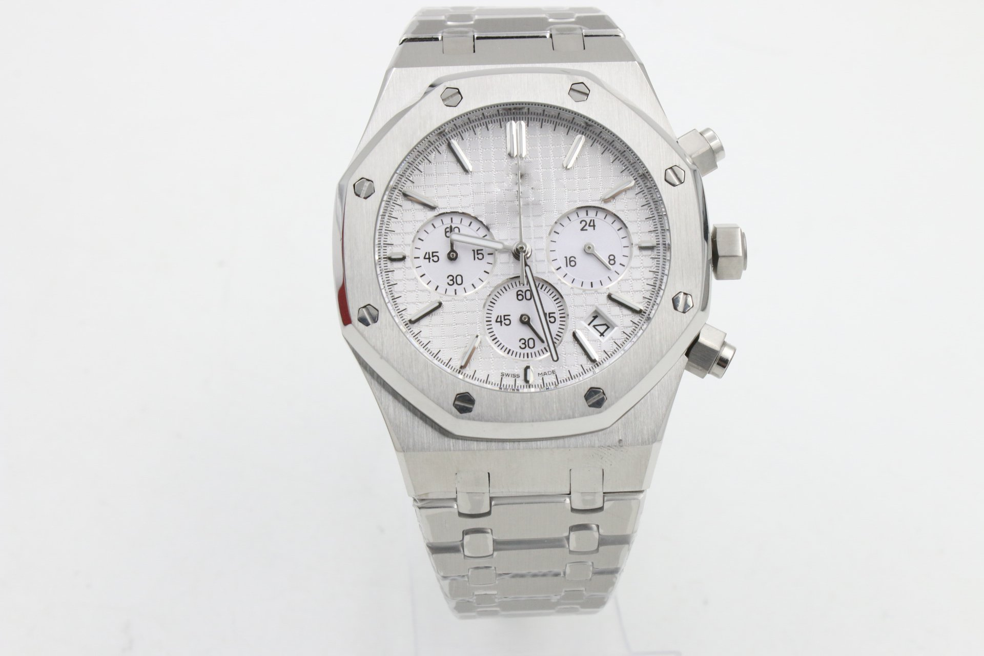 My_TimeZone Luxury Brand Top quality Japanese quartz chronograph silver color watch watches
