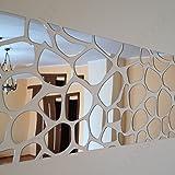 Specchio acrilico decorativo moderno ROCKS 140 x 70 cm, XXL, bricolage (fai da te), soggiorno, camera da letto, decorazione unica