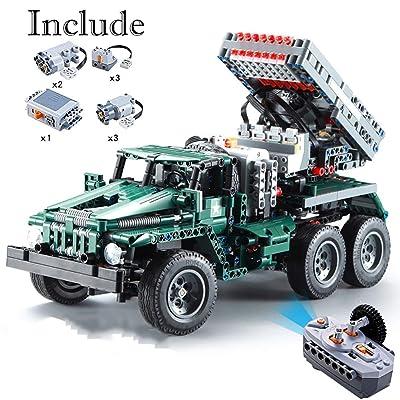 Actcute 1369 Piezas RC Rocket Launcher Truck Car 2in1 Creator Technic Military Power Funcation Moc Building Blocks Ladrillos Juguetes para Regalo de cumpleaños Niños: Juguetes y juegos