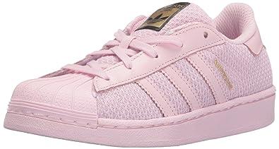 meet a9178 47a4c adidas Originals Girls  Superstar EL C Running Shoe, Clear Pure Pink  Fabric, 12.5