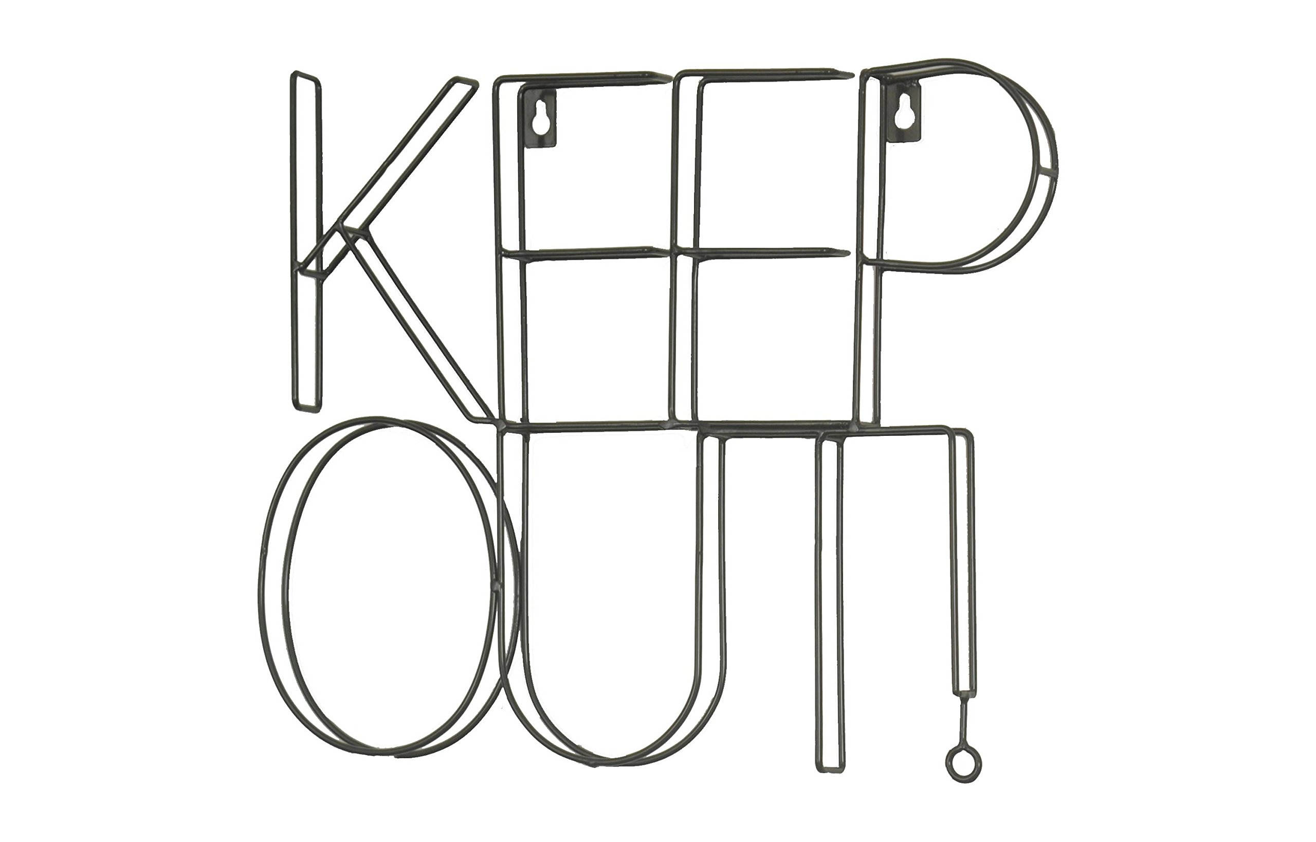 Pillowfort-Keep-Out-Wire-Wall-Dcor-14×11-Black