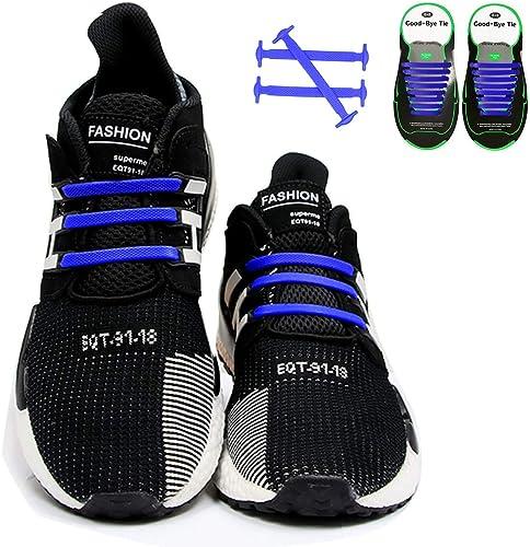 4 Pair Nylon No Tie Locking Shoe Laces Shoelaces Sports Running Jogging