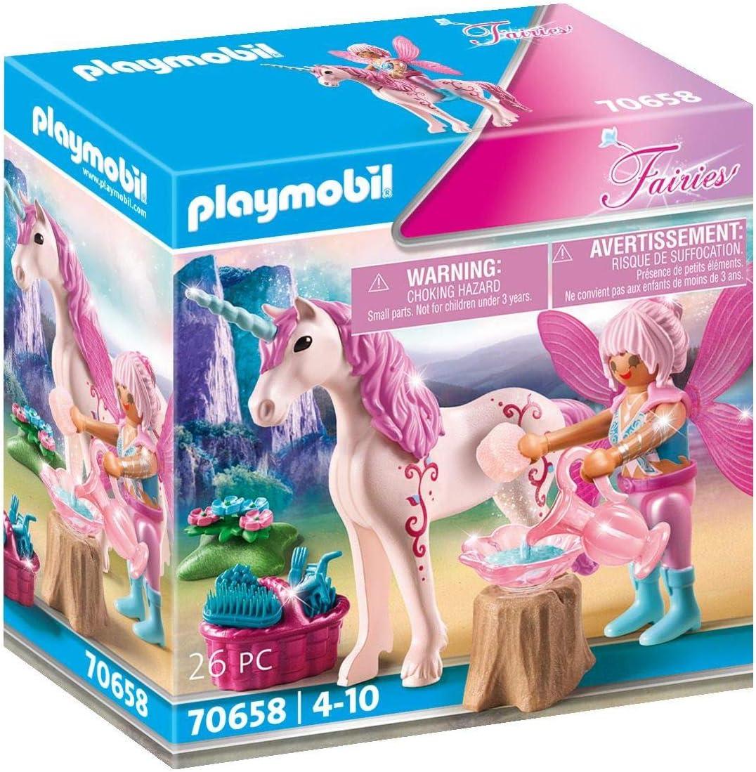 PLAYMOBIL Fairies 70658 - Unicornio con Hada, a Partir de 4 años