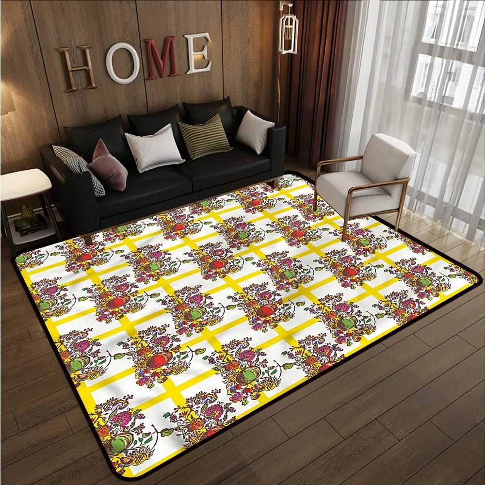 "B07SHFL9SS Modern,Polyester Non-Slip Doormat Rugs 48\""x 72\"" Seamless Pattern Rugs for Kitchen Floor 713RuzlY45L._SL1000_"