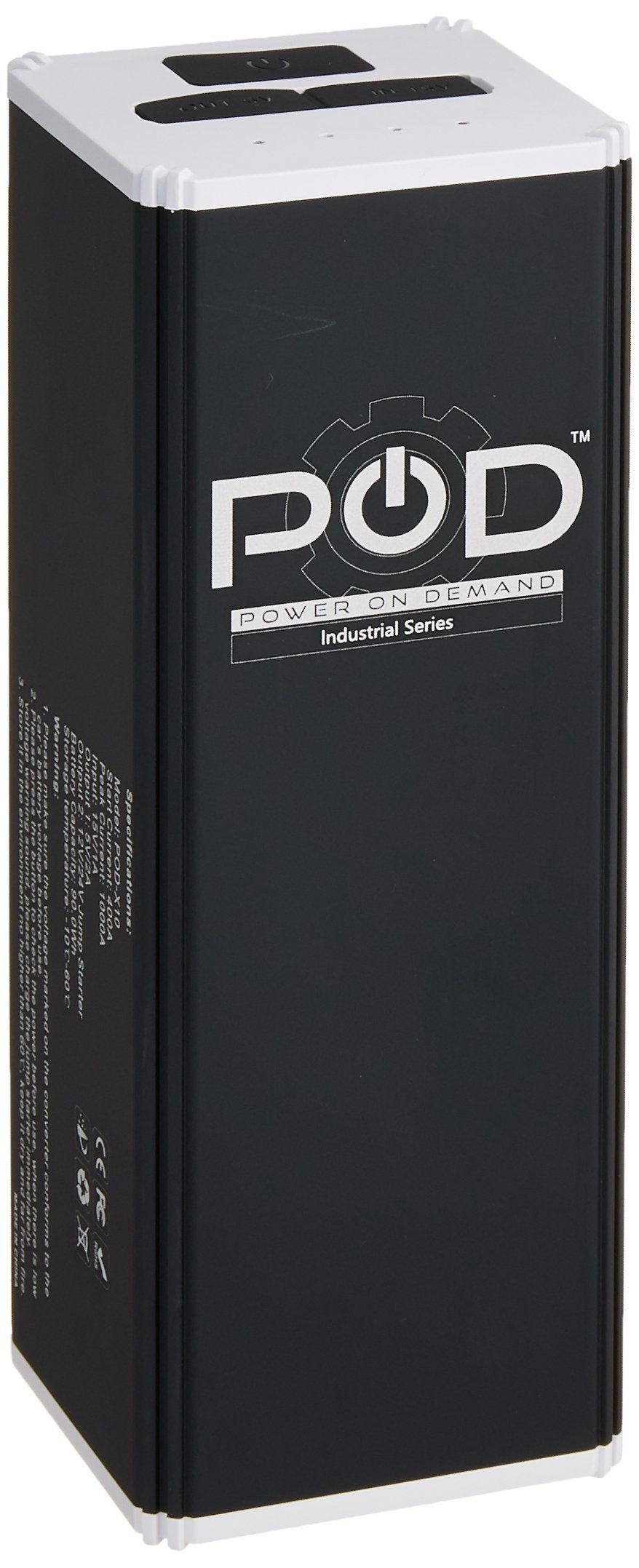 POD POD-X10 Jump Starter for 12V & 24V Diesel Engines, Black