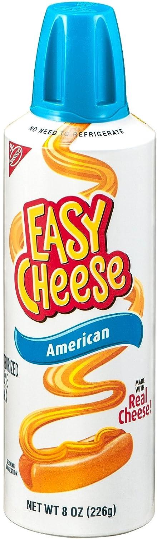 Kraft Easy Cheese, American, 8 oz (Pack of 6)
