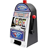 """Slot Machines Large Casino Machine Bank Games Toy With Sound Flashing Lights For Adults 8.8"""", White"""