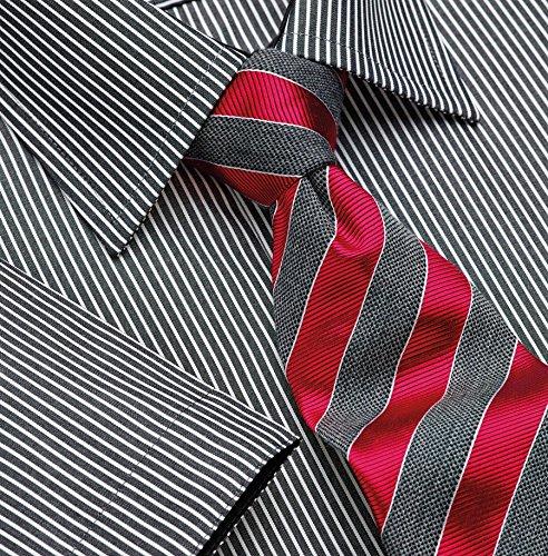 (Brook Taverner Mens Savona Short Sleeve Shirt (17) (Black/White Stripe))