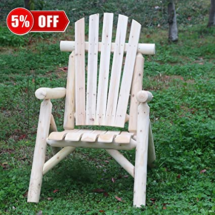KdGarden Cedar/Fir Log Patio Wood Adirondack Chair Lifetime Lounge Adirondack Chairs for Adults Indoor : log adirondack chairs - Cheerinfomania.Com