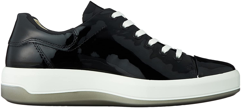 ECCO Women's Soft 9 Tie Fashion Sneaker B06XC6R2N4 40 EU / 9-9.5 US Black Patent
