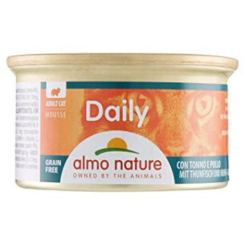 Almo Nature Tradition - Comida húmeda para Gatos Adultos almo Nature Daily Mousse atún y Pollo 85 gr: Amazon.es: Productos para mascotas
