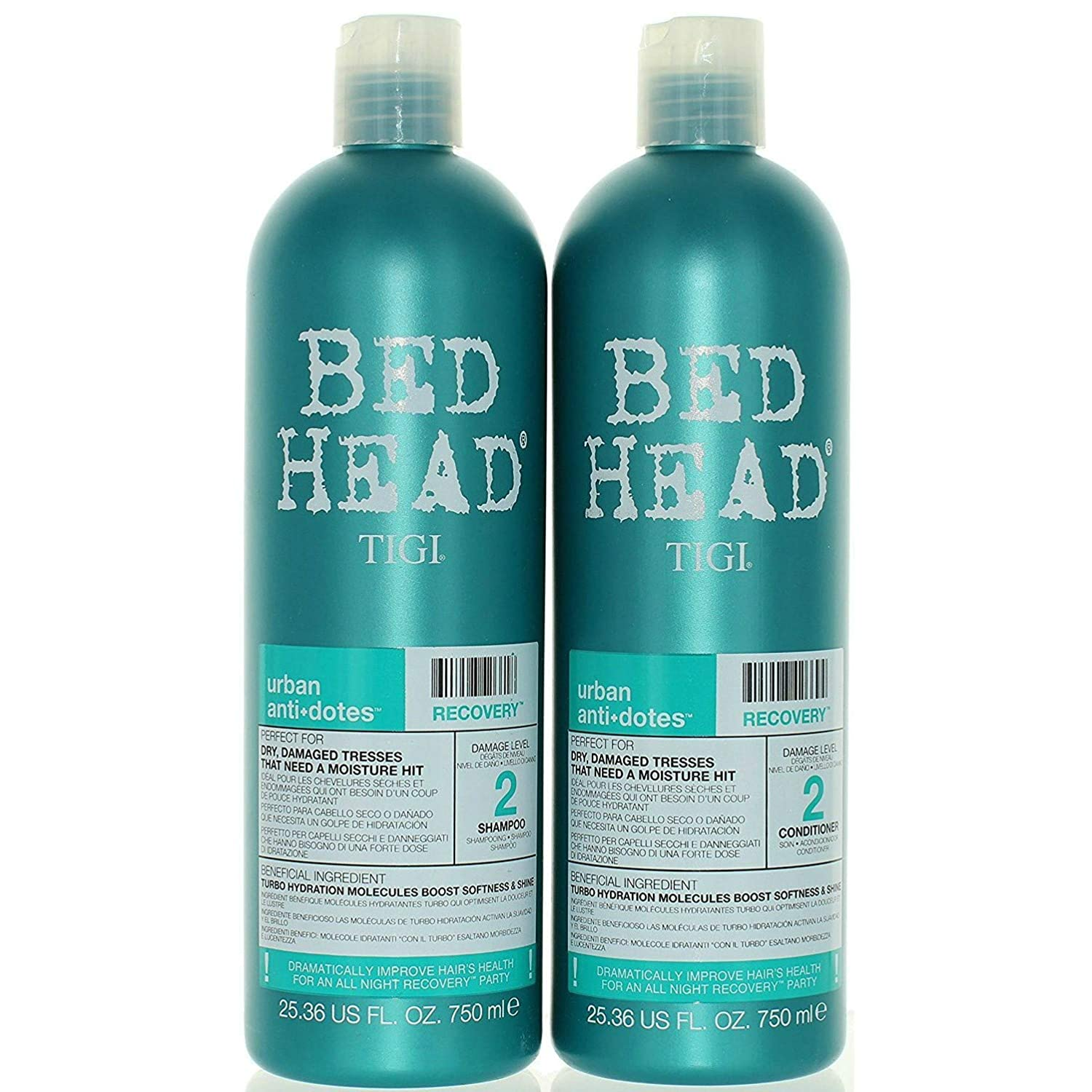TIGI Bed Head Urban Anti-dote Recovery Shampoo & Conditioner Duo Damage Level 2 (25.36oz) by TIGI B003T1G0XI