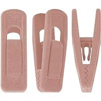 Trgowaul Blush Pink Velvet Hangers Clips, Pants Hangers Velvet Clips, Strong Finger Clips Perfect for Thin Velvet…