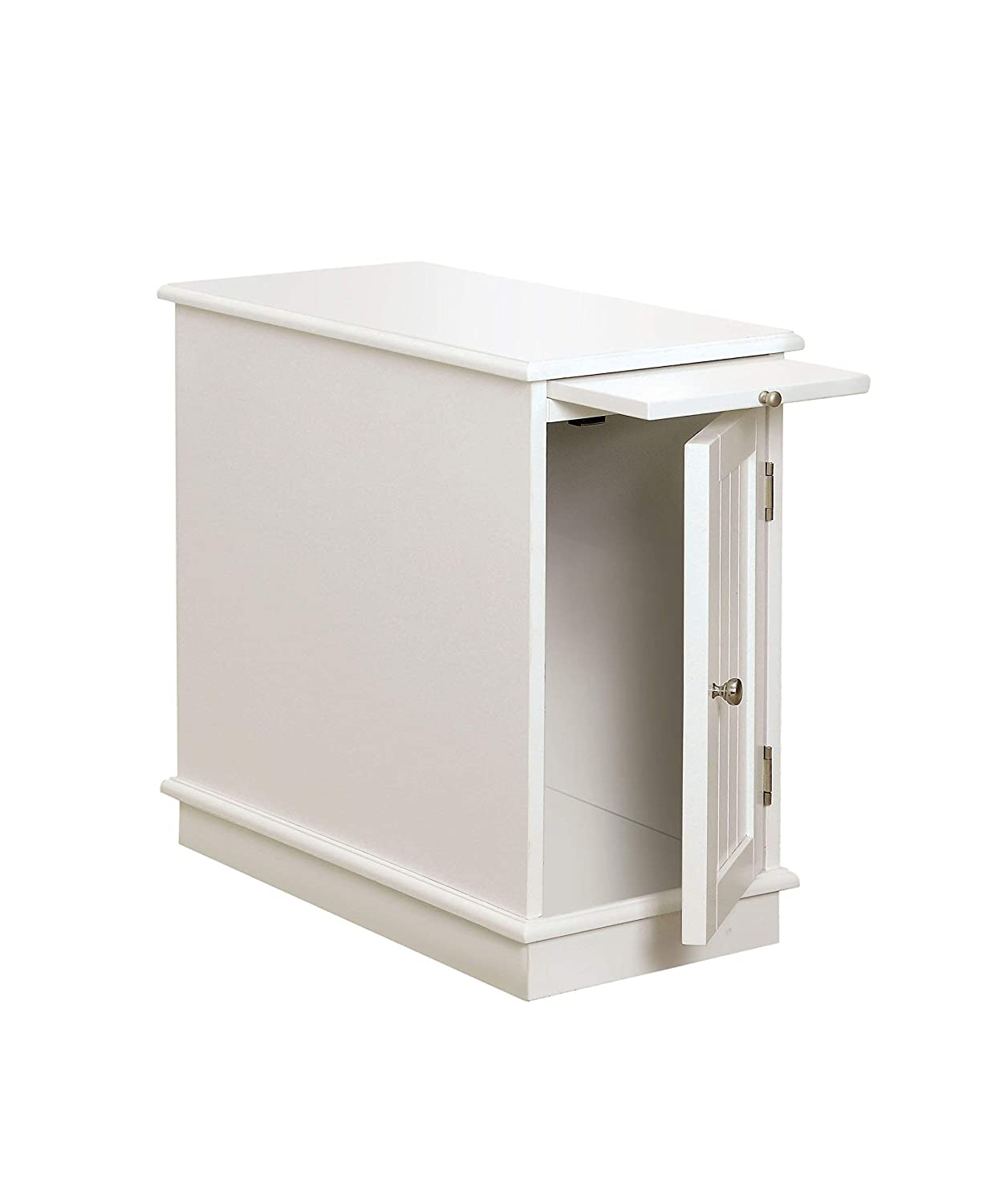 Furniture of America Asters Accent Side Cabinet, White