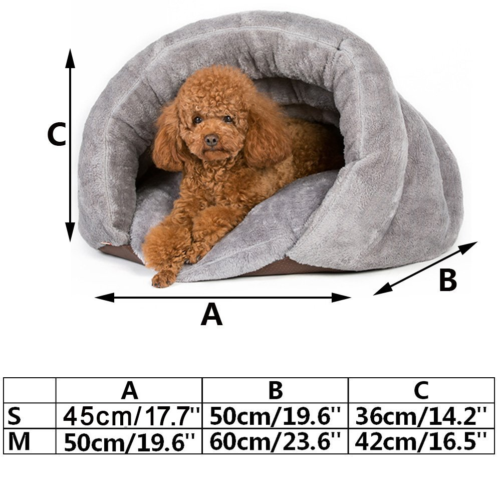 Amazon.com : Be Good Pet Bed/Mat Dog House Cat Cave Removale Pad Soft and Warm for Cat Dog Small and Medium Animals S/M : Pet Supplies