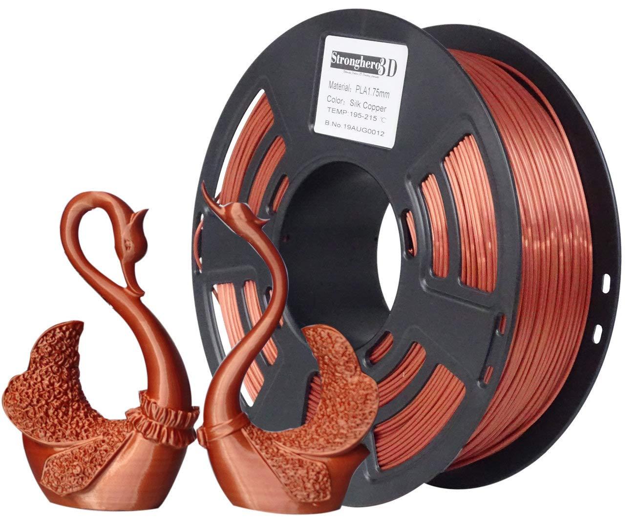 Stronghero3D - Impresora 3D de cobre de seda (PLA filamento, 1,75 ...