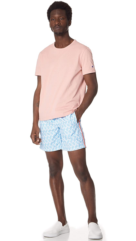 Sundek Mens Classic 16 Elastic Waist Printed Swim Short
