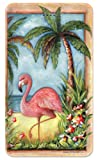 Amped Art 5000mAh Portable Charger Compact External Battery Power Pack Power Bank with Smart LED Display and Smart Charge for iPhone 7, 6, 6S, Plus, iPad, Samsung Galaxy, Tablets - Flamingo