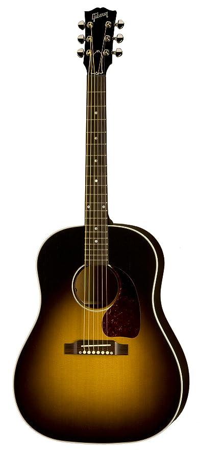 Gibson J 45 Standard Acoustic Electric Guitar Vintage Sunburst