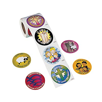 Fun Express - Bible Verse Stickers (100pc) - Stationery - Stickers - Stickers - Roll - 1 Piece: Toys & Games