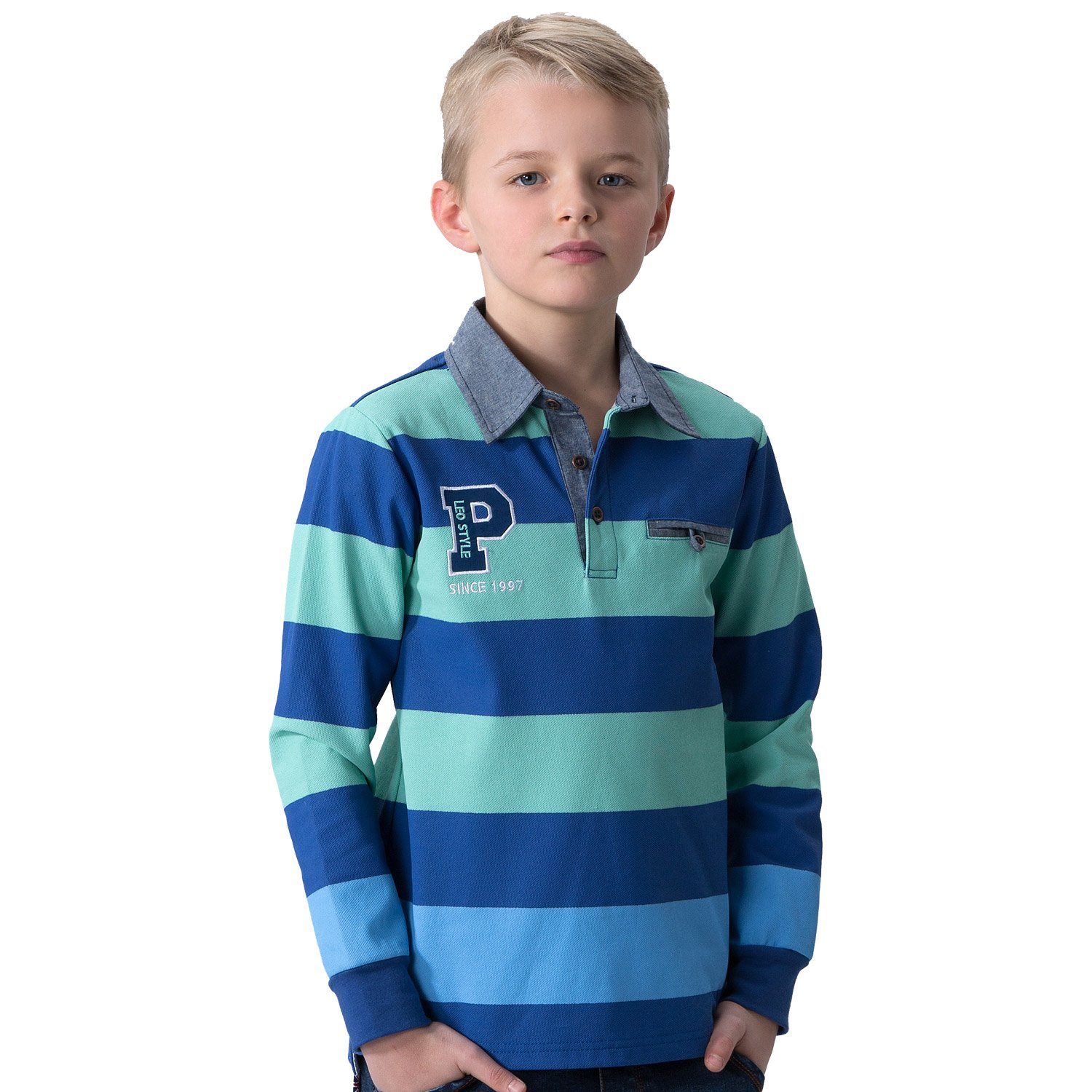 Leo&Lily Big Boys' LLB3520 LLB3520-8-Blue-$P
