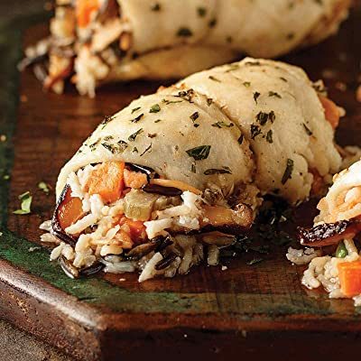 4 (5 oz.) Stuffed Sole with Crabmeat and Mushrooms: Grocery & Gourmet Food