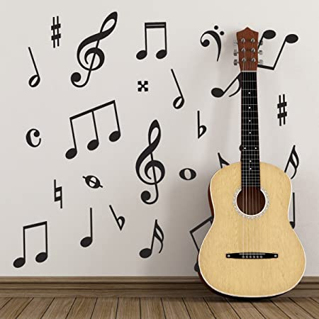 Pack Of 50 Music Wall Stickers   Music Symbols Wall Decals