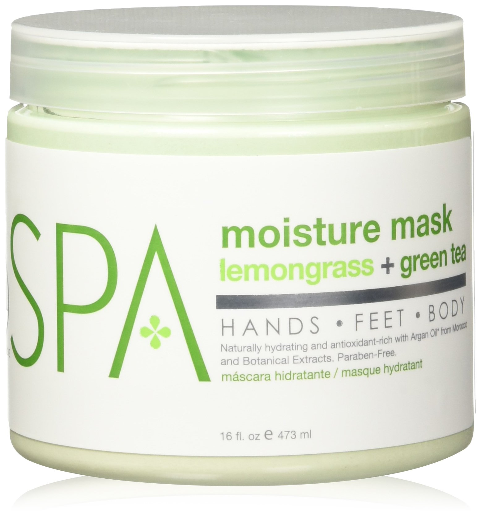BCL Spa Lemongrass and Green Tea Moisture Masque, 16 Ounce