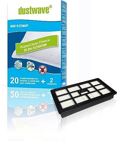 20 Bolsas de Polvo + Filtro HEPA/Canalizado filtro 845 Adecuado para Fakir – Prestige A1 – Aspiradora – dustwave® Marca filtro de polvo Fabricado en Alemania.: Amazon.es: Hogar