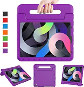 """LTROP New iPad Air 4 Case 10.9-inch 2020, iPad Air 4th Generation Case for Kids, iPad Air 10.9 Case Shockproof Light Weight Handle Stand Child Proof Case for Apple iPad Air 4th Gen 10.9"""" 2020, Purple"""