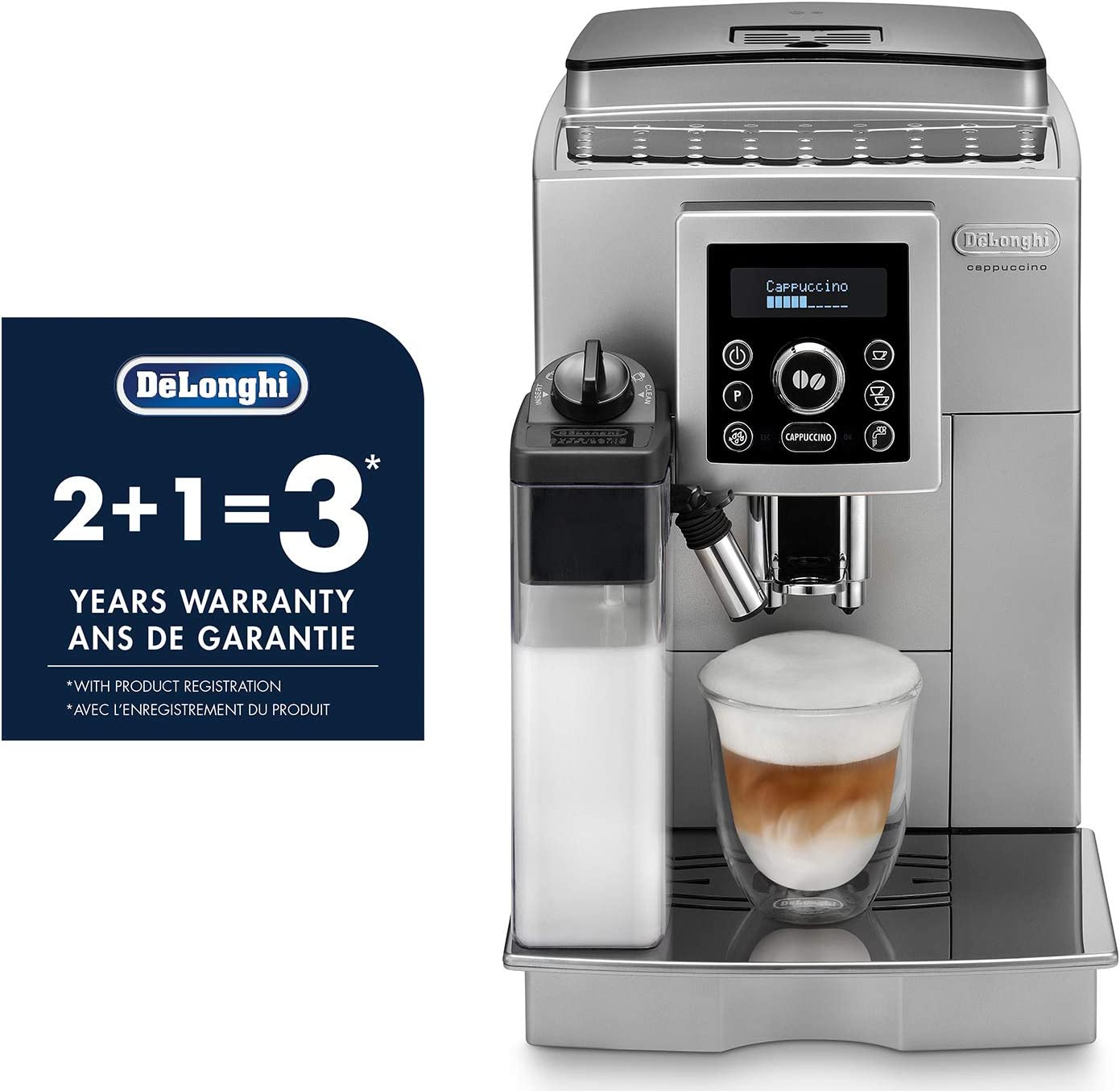 Amazon.com: De Longhi ecam23460s Digital Super Sistema ...