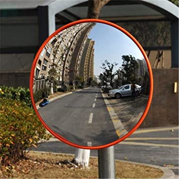 NEW 45CM WNB CONVEX BLIND SPOT SAFETY FLEXI MIRROR TRAFFIC DRIVEWAY SHOP JUNCTION ORANGE BACK
