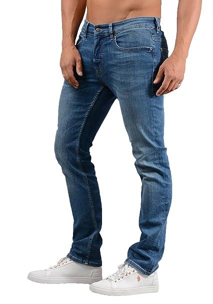 7543d461e BOSS Hugo Mens Orange63 Helsinki-P Slim Fit Jean in Blue: Amazon.co ...