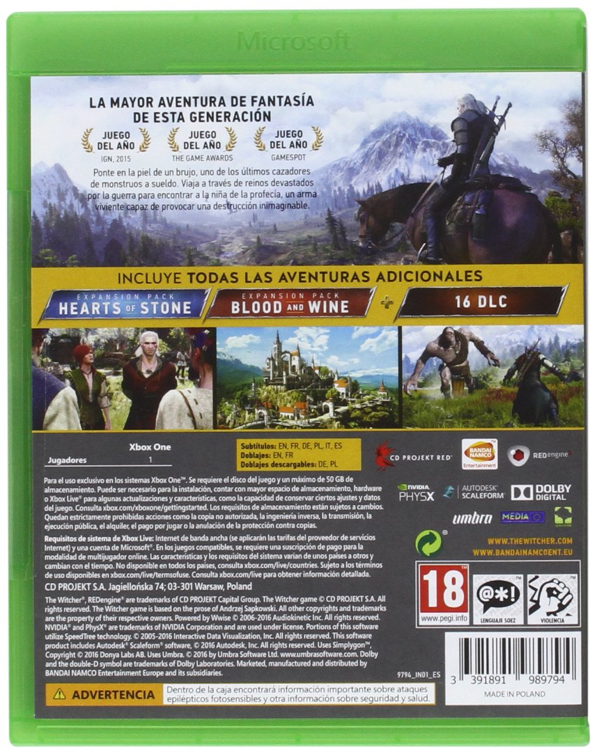 The Witcher 3: Wild Hunt - Game Of The Year Edition: Xbox ...