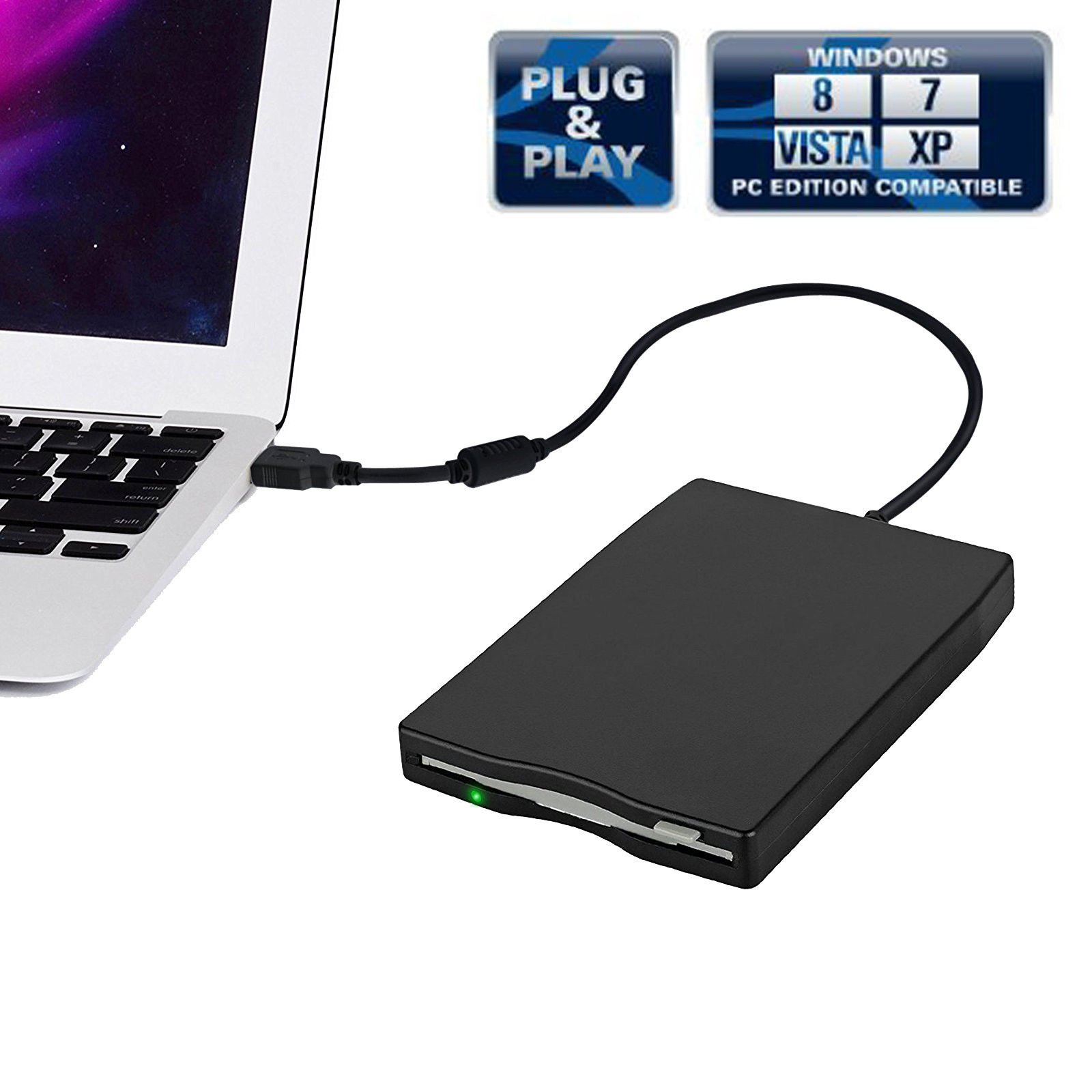 CAMWAY 3.5'' Portable USB 2.0 External Floppy Disk Drive 1.44MB for Laptop Desktop PC Win XP/7/8/10 by CAMWAY (Image #2)