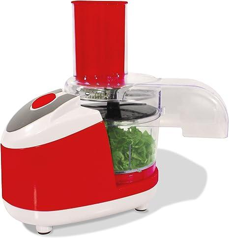 Compra Robot de cocina Chef – El pequeño todo könner – Color: Rojo – Cortes – Talón – Para laminar – rallar – Puré – adecuado para verduras, frutas, carne, pescado uvm. – Utensilios