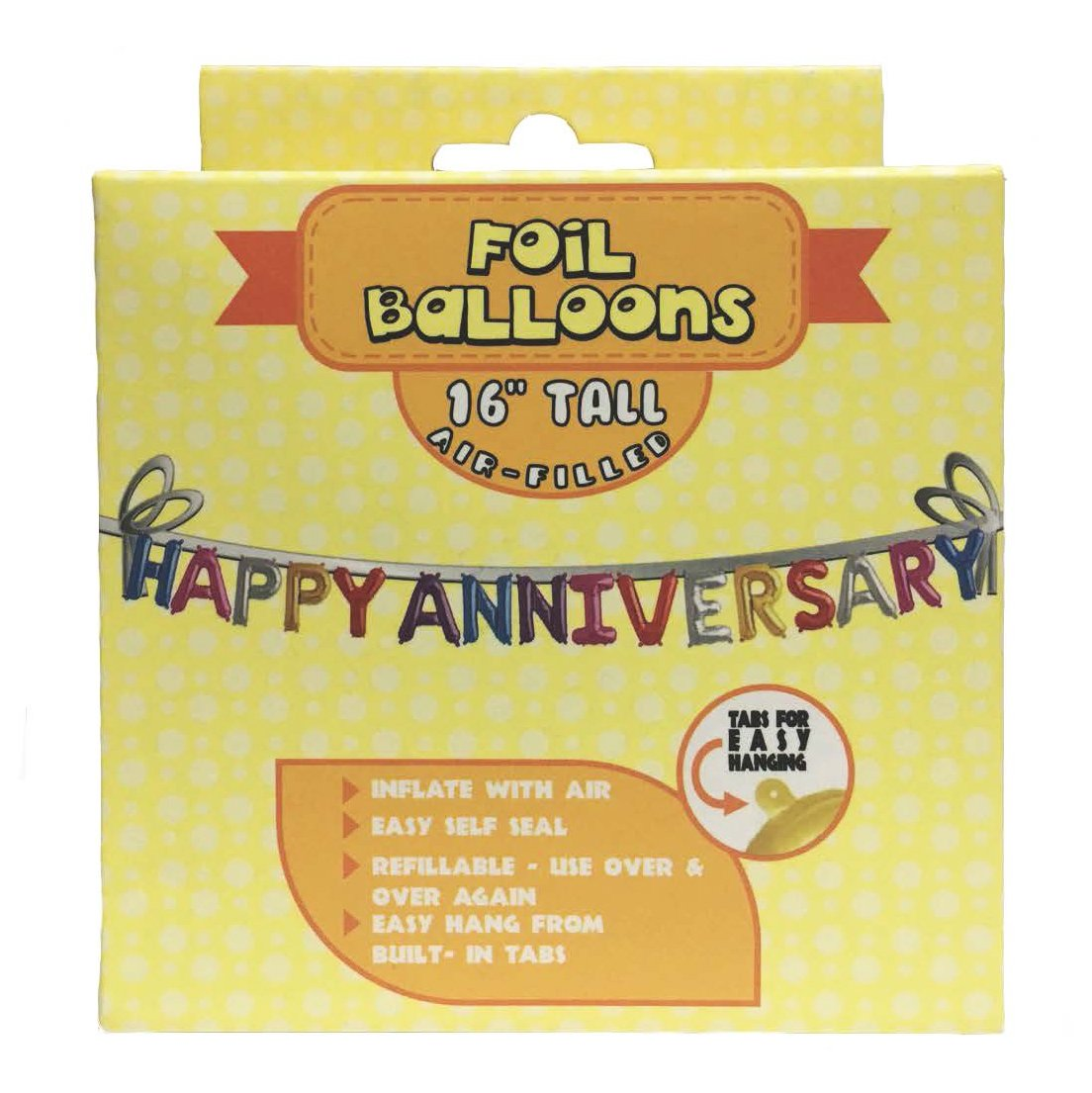 Amazon Com Foil Balloon Cele Tion Sayings Refillable Banner Happy Anniversary Orted Colors 16 Inch Health Personal Care