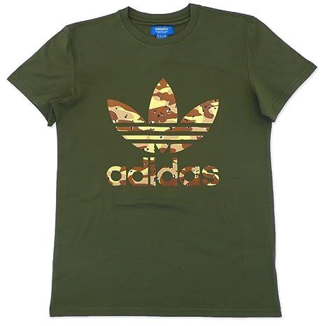 XS Shirt uomo adidas da trifoglio scuro T Adi verde camouflage Fqxf5zq